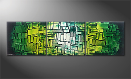 Our wall-art 'Green Hope' 210x60cm