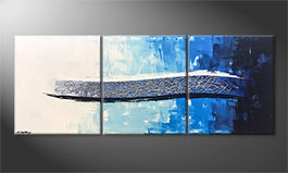 Our wall-art 'Ice Stream' 180x70cm
