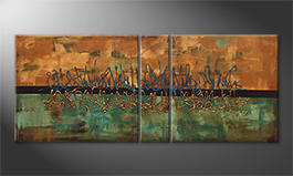 Our wall-art 'Insistent Melody' 180x70cm