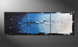 Our wall-art 'Into The Blue' 210x70cm