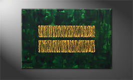 Our wall-art 'Jungle Gold' 120x80cm
