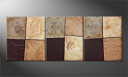 Our wall-art 'Pieces Of Earth' 180x70cm