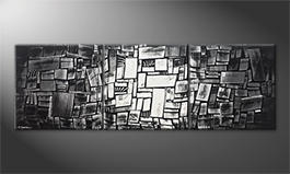 Our wall-art 'Play Of Shadows' 210x70cm