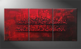 Our wall-art 'Red Glow' 180x80cm