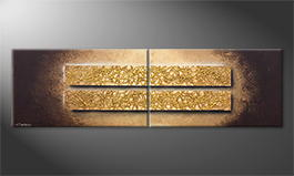 Our wall-art 'Riot Of Gold' 200x60cm