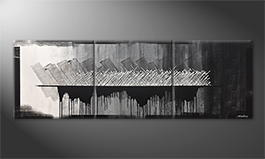 Our wall-art 'Rise Of Silver' 240x80cm