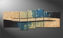 Our wall-art 'Sand Wave' 210x80cm