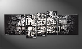 Our wall-art 'Shadow Cubes' 210x80cm