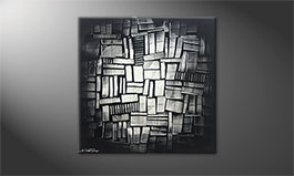 Our wall-art 'Shinning Cubes' 80x80cm
