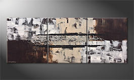 Our wall-art 'Silver Connection' 180x70cm