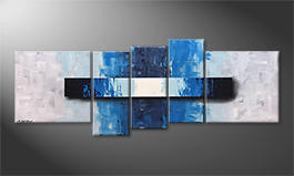 Our wall-art 'Silver Signs' 210x80cm