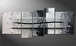 Our wall-art 'Spinning Silver' 190x80cm