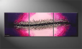 Our wall-art 'Splitted Universe' 210x70cm