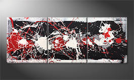 Our wall-art 'Strong Contrast' 180x70cm