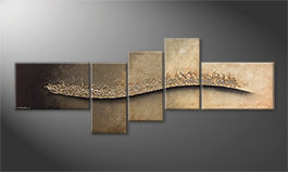 Our wall-art 'Swinging Silver' 210x80cm