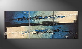 Our wall-art 'Wandering Silver' 180x70cm