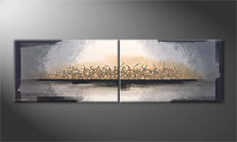 Our wall-art 'Whispering Light' 200x60cm