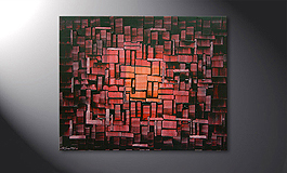 Painting 'Cubes of Glow' in 100x80cm