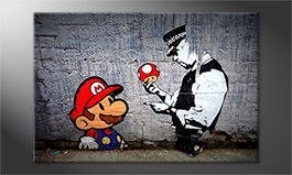 Modern art print<br>'Caught Mario'