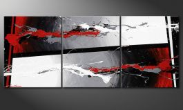 Shabby Chic painting 'Powerful Contrast' 120x50cm
