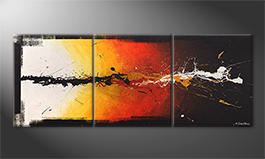 The exclusive painting 'Altercation' 180x70cm