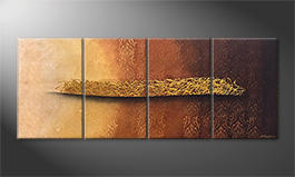 The exclusive painting 'Golden Whisper' 200x80cm