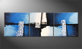 The exclusive painting 'Light Fountains' 210x70cm