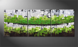 The exclusive painting 'Organic Green' 180x70cm