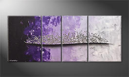 The exclusive painting 'Purple Melody' 170x70cm