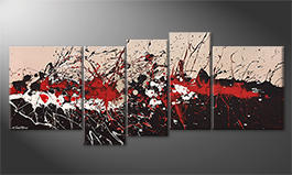 The exclusive painting 'Sizzling Red' 190x80cm