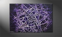 The nice painting 'Purple Lines' 120x80cm