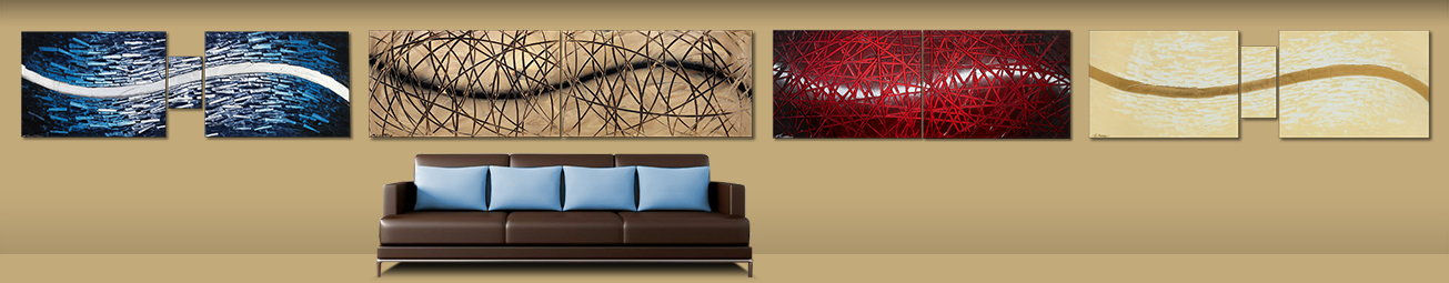Paintings XXL - Choose from over 400 modern acrylic paintings and prints