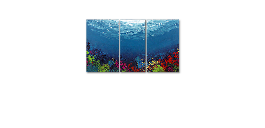 Hand painted painting Coral Garden 140x80cm