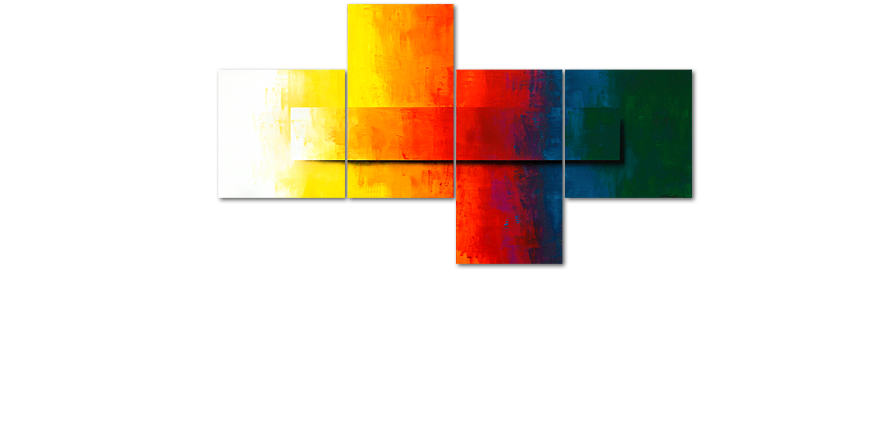 Modern XXL Painting Rainbow Colors 220x120cm