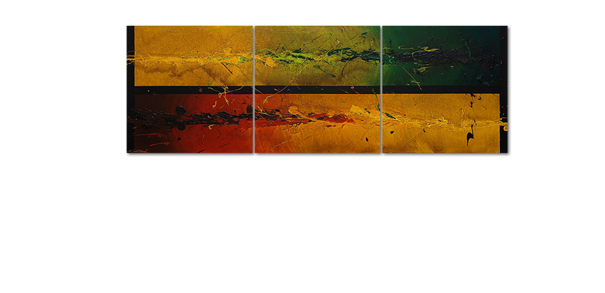 Big painting Blowing Elements 240x80cm