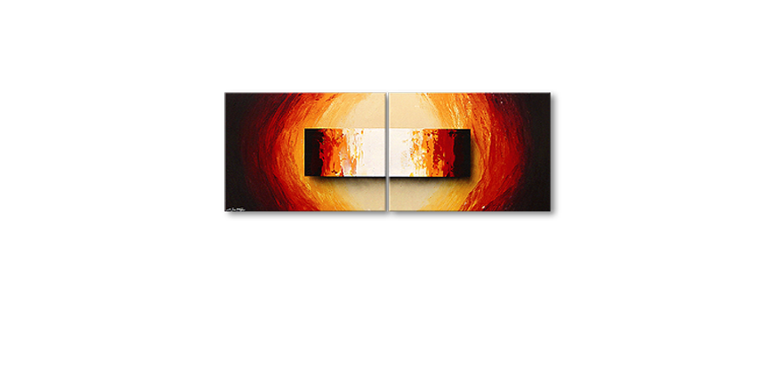 Framed Painting Liquid Fire 160x60cm