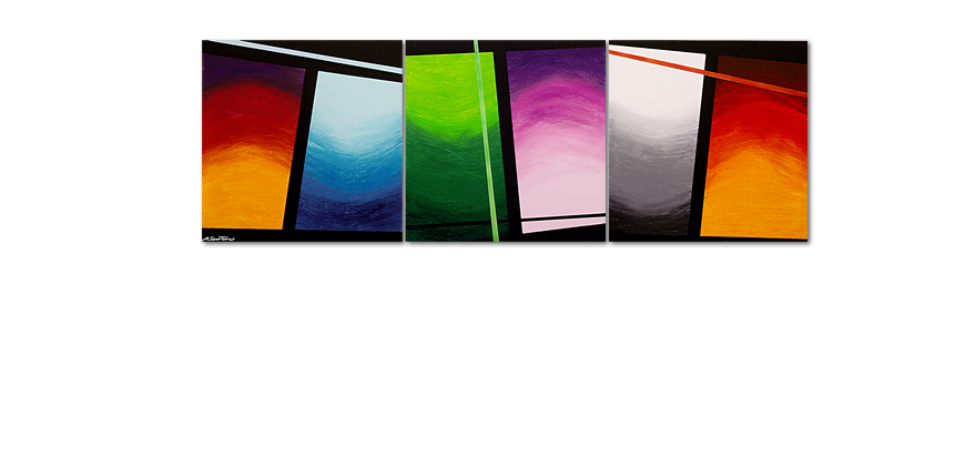 Large scale painting Wave of Colors 240x80cm