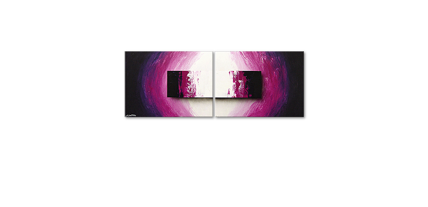 Modern Painting Purple Rain 160x60cm