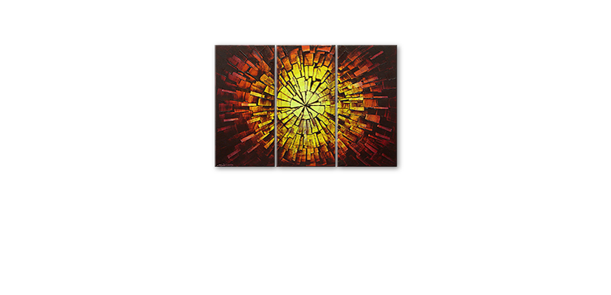 Painting Fiery Explosion 120x80cm