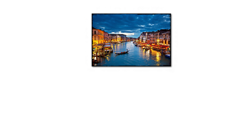 Canvas print Canale Grande in 120x80cm