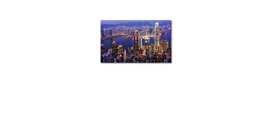Canvas print Hongkong View 100x60cm