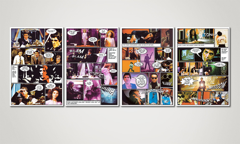 Modern Canvas print Scarface 160x60cm - Paintings XXL