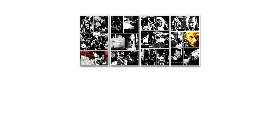 Modern Canvas print Sin City 160x70cm