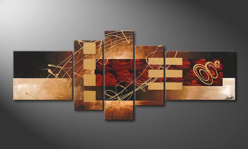 Art painting Rosy Phantasies 220x90x2cm