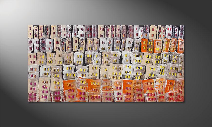 Hand-painted paintingUrban Desert 120x60x2cm