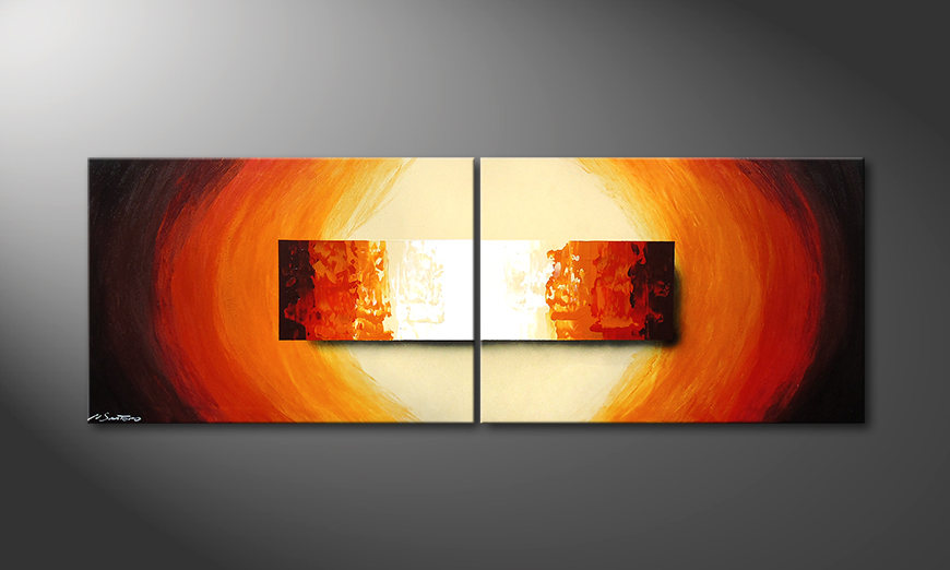 Living room art Aboil Fire 210x70x2cm