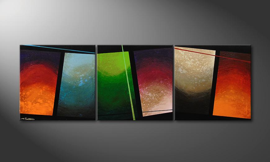 Living room art Color Wave 210x70x2cm