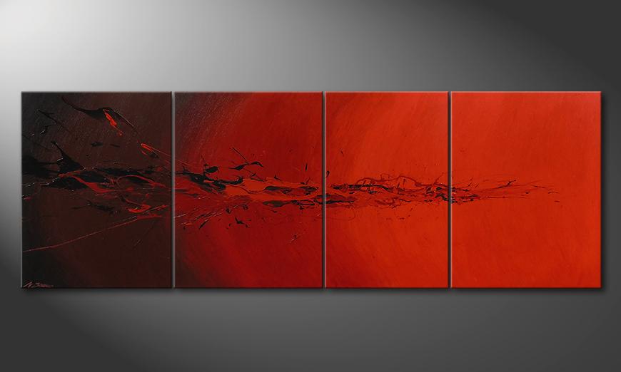 Living room painting Devil Splash 230x80x2cm