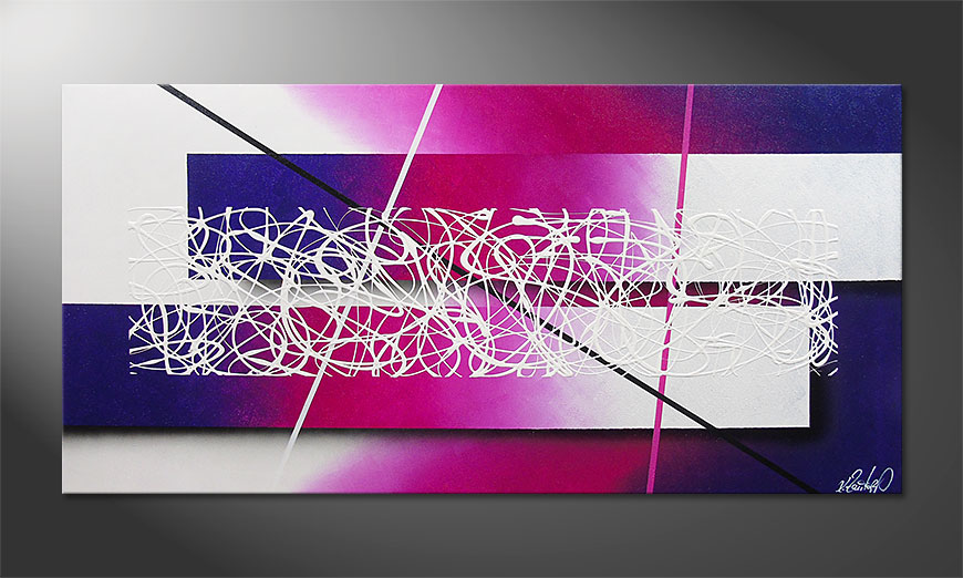 Modern Painting Fancy Connection 140x70x2cm