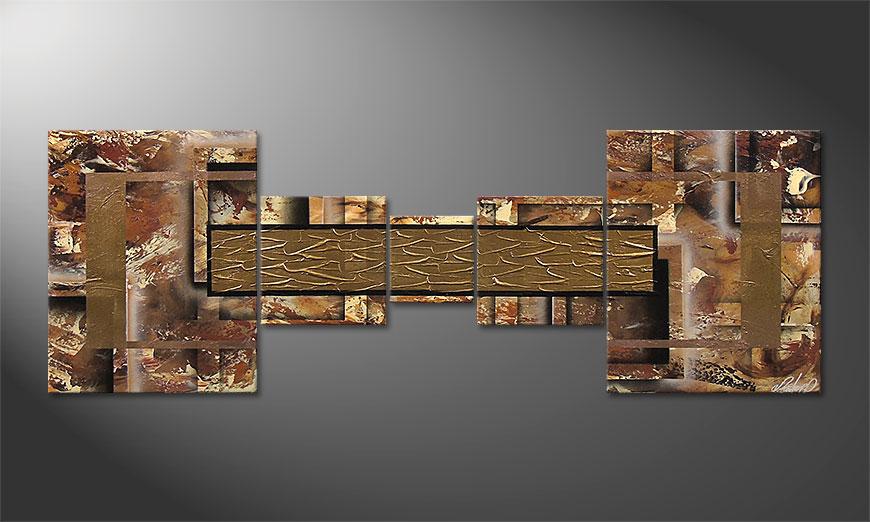 Modern Painting Golden Treasure 180x60x2cm